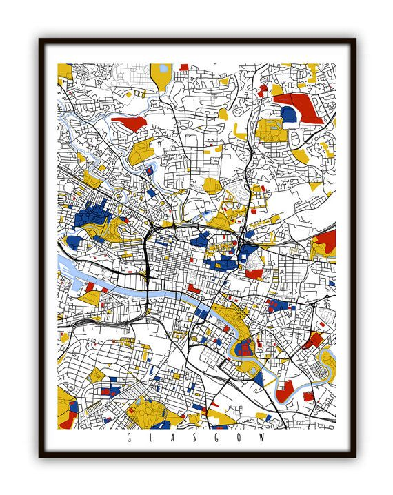 Hey, I found this really awesome Etsy listing at https://www.etsy.com/listing/210468009/glasgow-map-art-glasgow-uk-wall-art