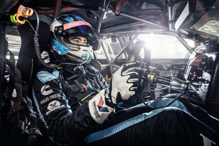 Scott McLaughlin inside his Volvo V8 Supercar Polestar Racing car.