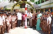 Students' tryst with space science.  Students of Government SNDP Upper Primary School here observed World Space Week by creating a model of the Indian Space Research Organisation's Polar Satellite Launch Vehicle (PSLV) and install it in the school courtyard on Wednesday.  http://www.thehindu.com/news/national/kerala/students-tryst-with-space-science/article7737126.ece  #WorldSpaceWeek #wsw2015 #spacescience