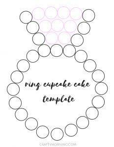 wedding ring cupcake cake