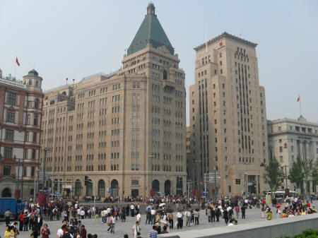 The Peace Hotel, Shanghai, China, which used to be the Cathay Hotel