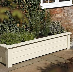 If you are wondering how to start a herb planter, this Forest Garden Bamburgh Wooden Herb Planter is a great help.