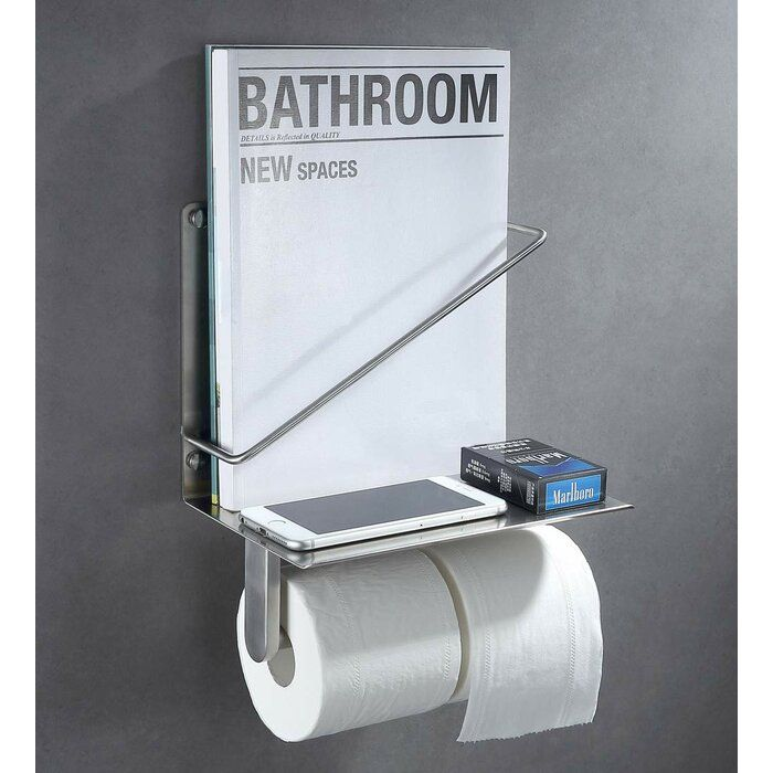 Wall Mount Toilet Paper Holder With Phone Shelf Toilet Paper Holder Bathroom Toilet Paper Holders Toilet