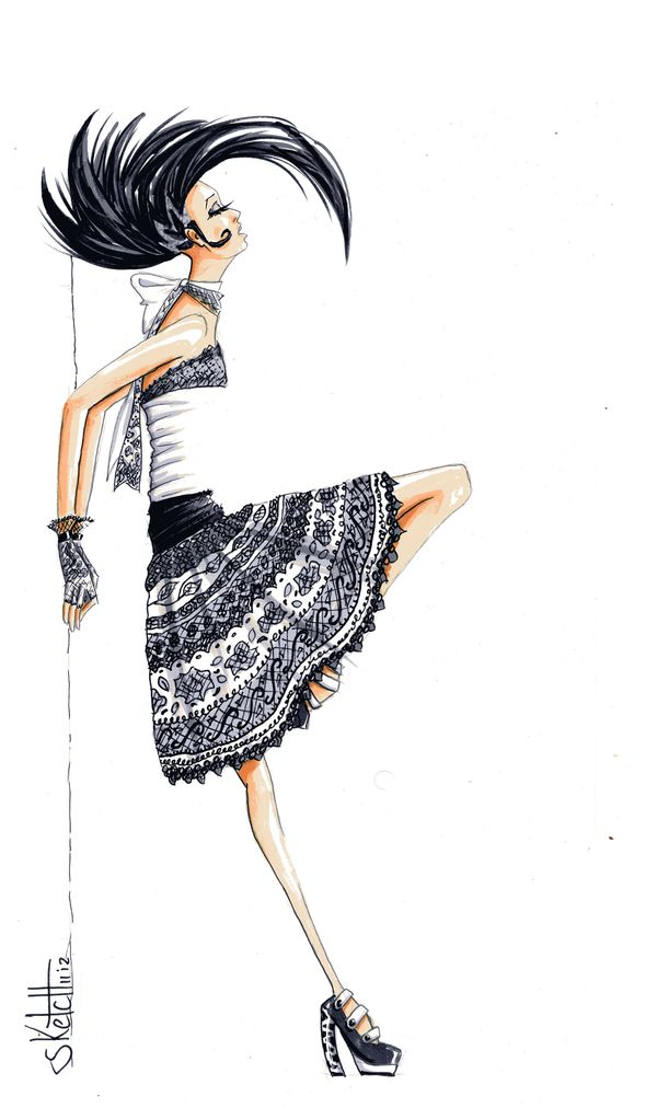 50 Amazing Fashion Sketches | Cuded  http://www.cuded.com/2013/11/50-amazing-fashion-sketches/