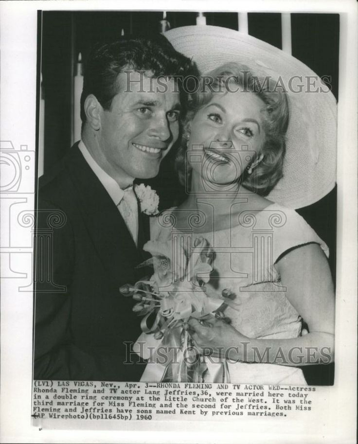 1960 Lang Jeffries Actress Rhonda Fleming Wed. Actor