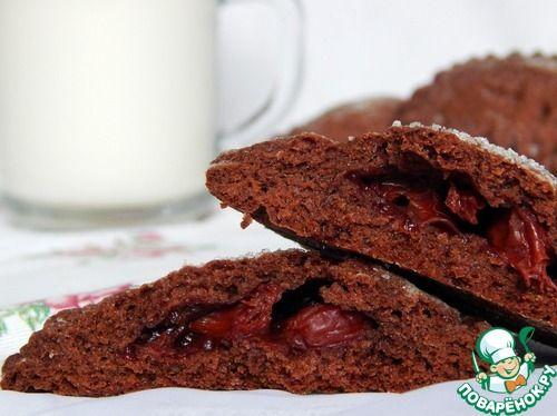 Шоколадное печенье с вишней - кулинарный рецепт