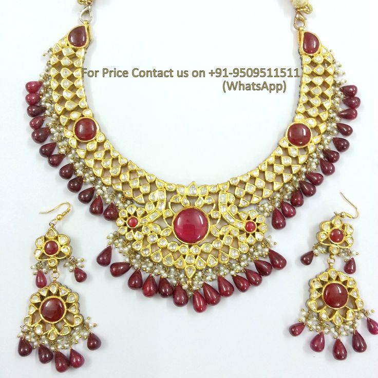 vintage antique 20kt gold diamond polki Handcrafted Polki Necklace by indian Jewellery