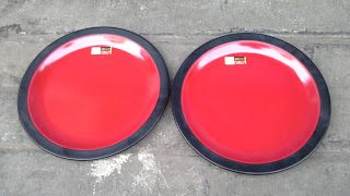 Selatan Jaya distributor barang plastik Surabaya: Piring plastik melamin datar 10 inch2 warna merah ...
