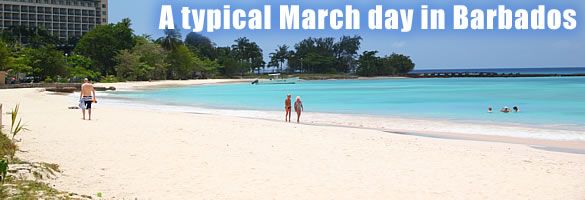 Enjoy warmth and sunshine when you visit Barbados in March. It's a great month weatherwise!