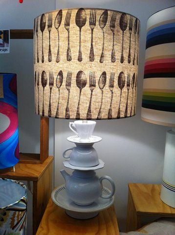 The Mad hatters tea party table lamp by Shady Designs