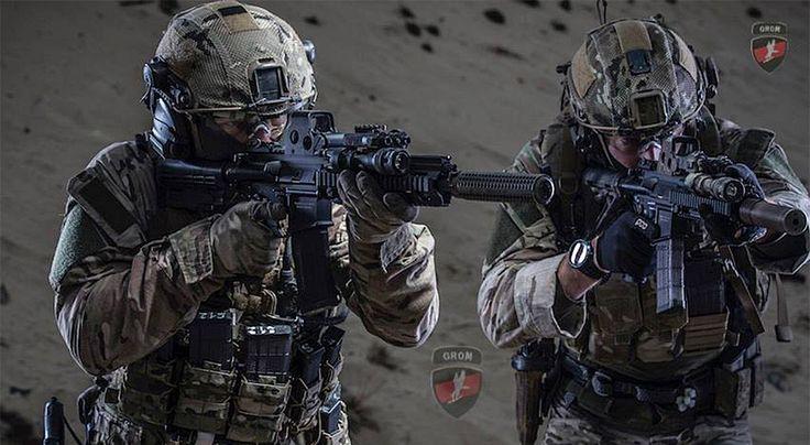Ćwiczenia żołnierzy jednostki GROM