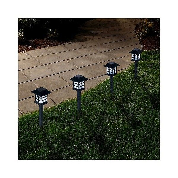 Pure Garden Outdoor Lantern Solar Landscaping Lights ($20) ❤ liked on Polyvore featuring home, outdoors, outdoor lighting, black, solar powered lanterns, outdoor solar lights, solar lanterns, solar pathway lights and outdoor solar lanterns