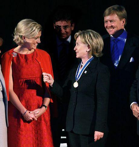 Dutch royals with Hilary Clinton