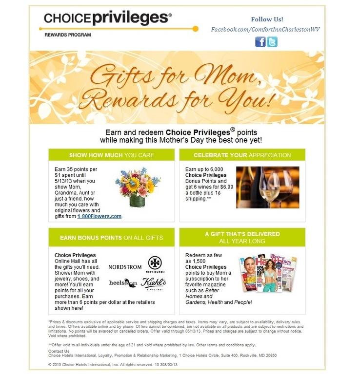 0e6ea8d7feeabcc47e586f2ebc5dcc87 choice hotels mother day gifts