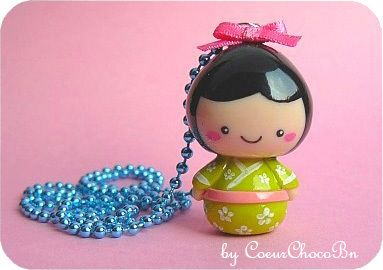 ♥ Kawaii Kokeshi (green) ♥