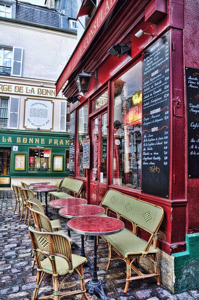 """Parisian restaurant"" by Shorouq on Flickr ~ A Parisian Bistro located in Montmartre, Paris, France"