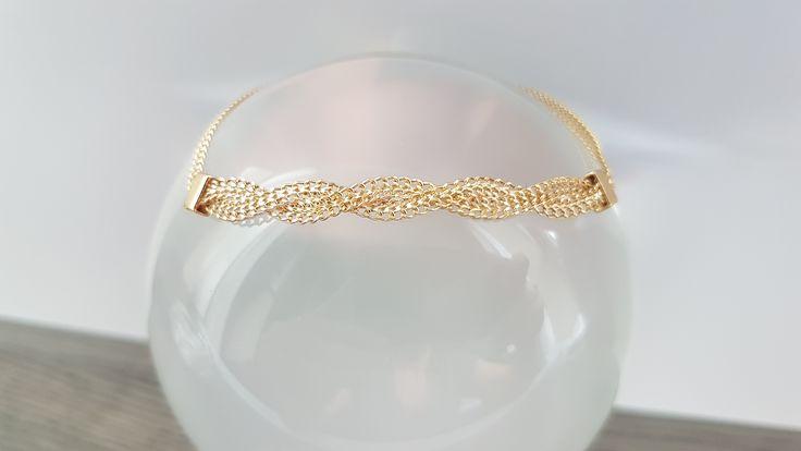 10K Yellow Gold Twisted Bracelet at www.shaizyfinejewellery.com