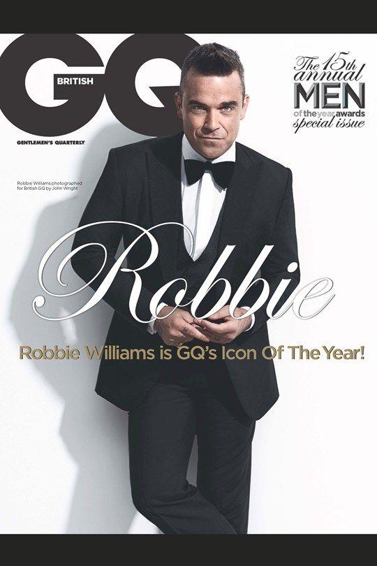 Robbie Williams élu icône de l'année dans le prochain GQ British !