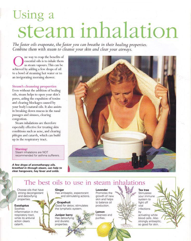 Using a steam inhalation