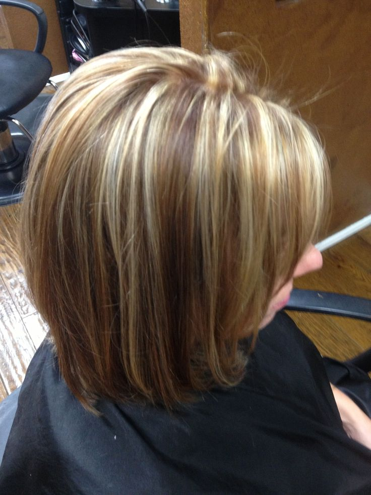 Really Pretty Contrasting Brown Blonde Highlights Just A