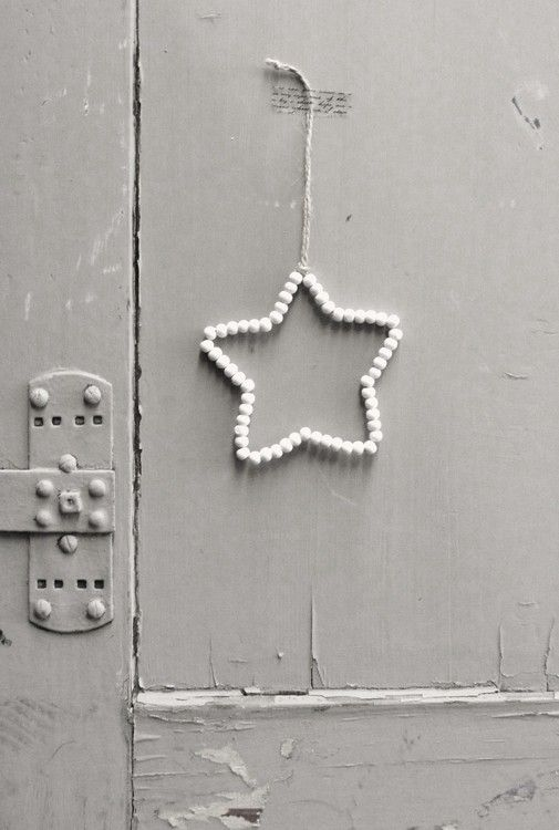 Houten kralen ster | KERST | WWW.ZINKENZO.NL