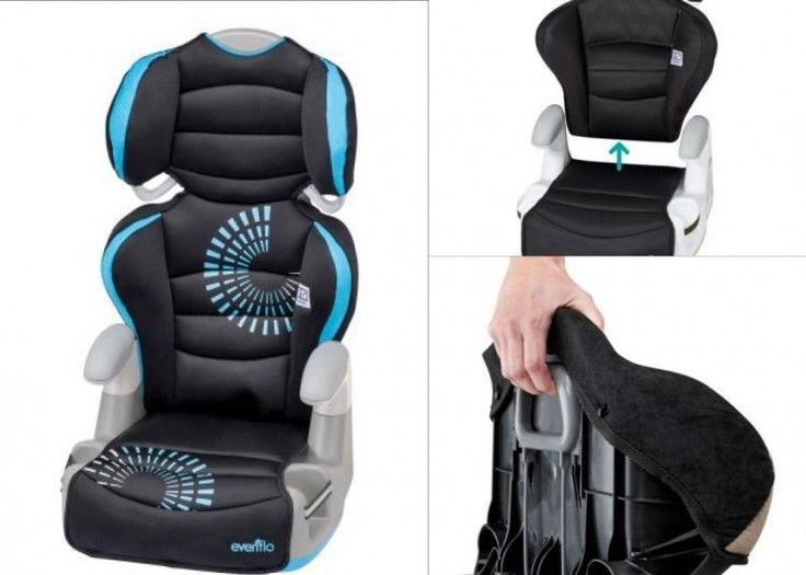 Baby Car Seat Blue Toddler Safety Adjustable Booster 30 To 110 lbs 2 Seats In 1 #BabyCarSeat