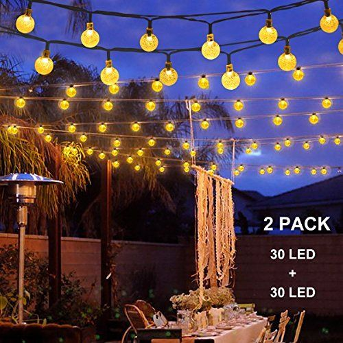 Binval Solar Christmas String Lights for Outdoor Patio Lawn - solar christmas decorations