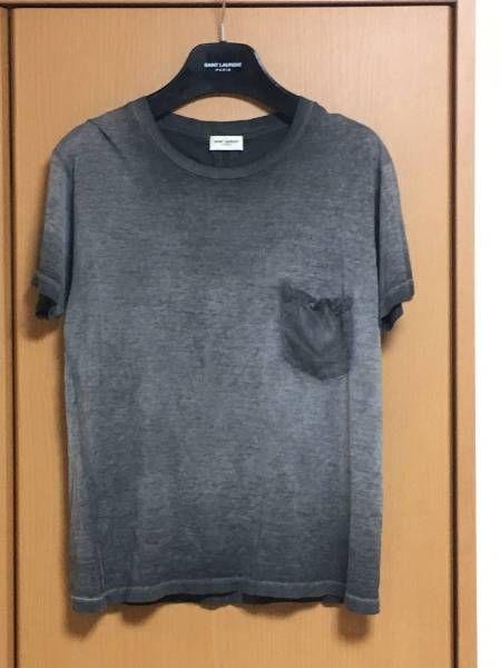 サンローランパリ15ssガーメントダイTシャツ XS美品_画像1