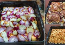 Vrstvené vepřové maso s brambory na jednom pekáči – luxusní chuť a snadná příprava!