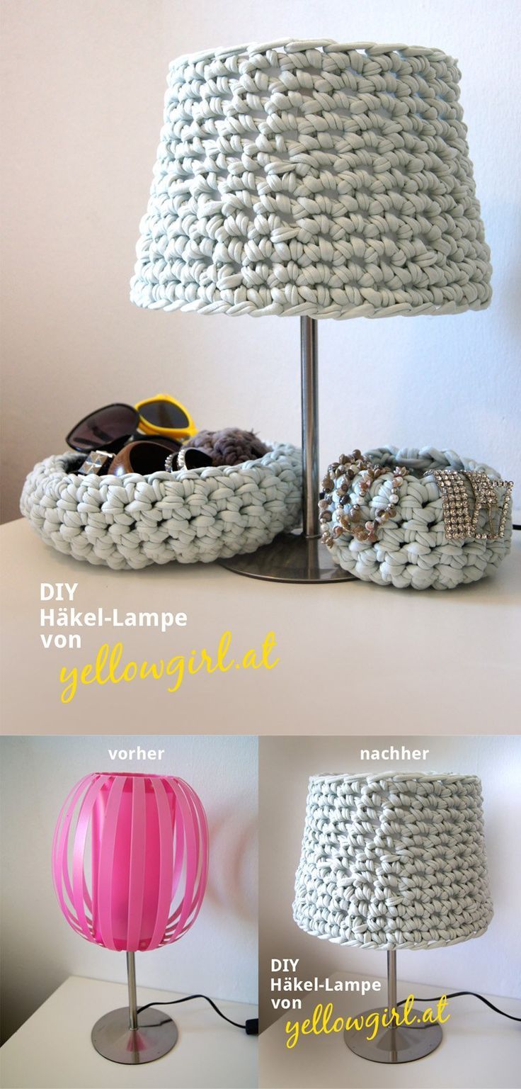 Original lámpara de crochet