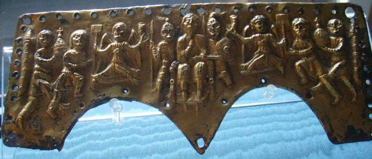 Lombard helmet plate of King Agilulf, 7th century