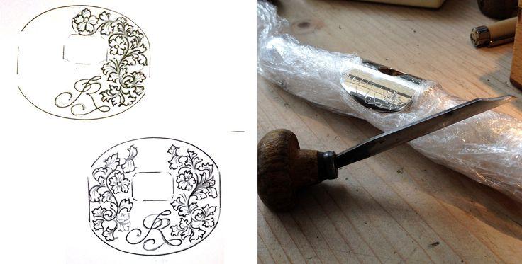 Engraved flute embouchure