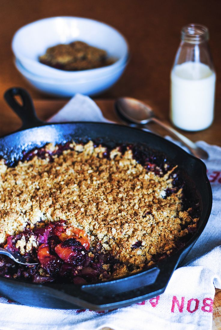 Tamarillo and apple crumble, recipe and photography by The Hungry Cook