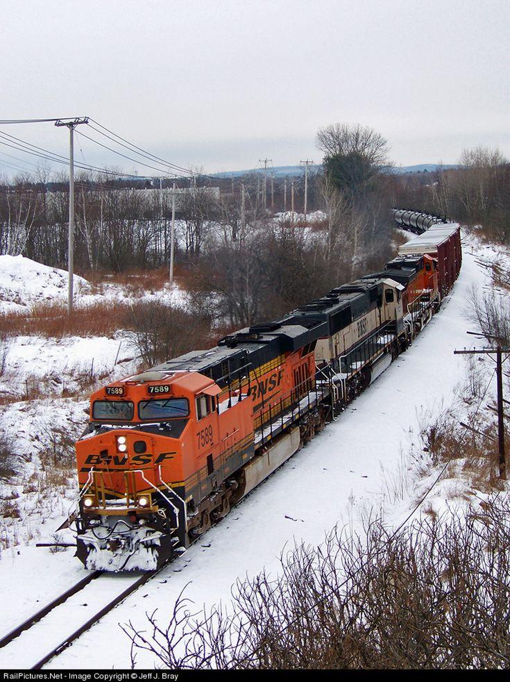 RailPictures.Net Photo: BNSF 7589 Pan Am Railways GE ES44AC at Hampden, Maine by Jeff J. Bray