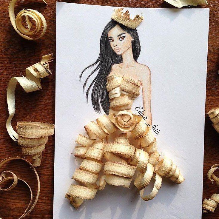 @art_spotlight  Dress made with Pencil Shavings By @edgar_artis - @artbros by art_spotlight