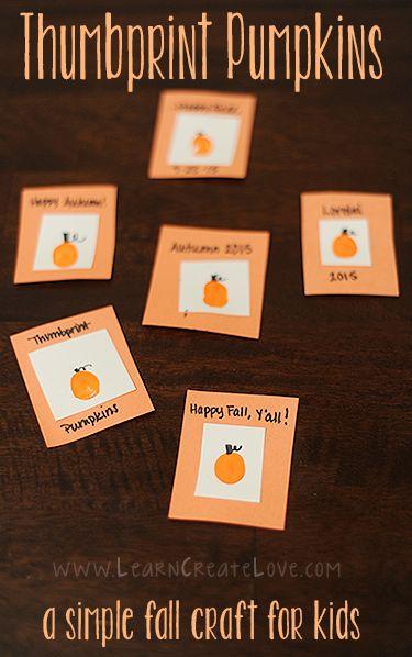 Thumbprint Pumpkin Craft