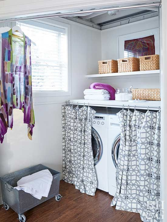 Store More In Your Tiny Laundry Room With These Smart Ideas Laundry Room Storage Laundry Room Diy Diy Laundry Room Storage