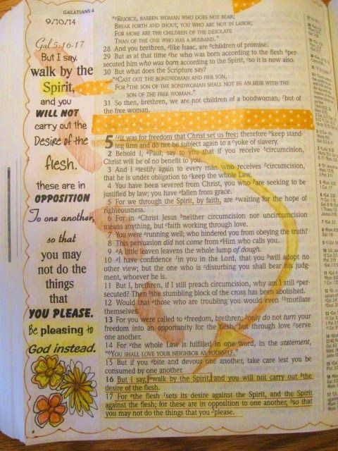 A Palette Full of Blessings.....Journaling Bible....walking in the spirit.