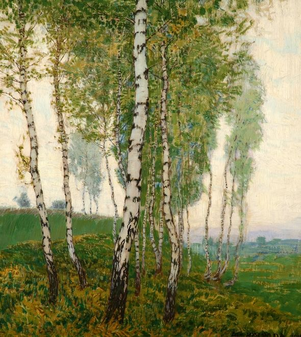 poboh:   Břízy / Birches, Alois Kalvoda. Czech (1875 - 1934)