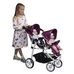 Britax Duo Twin Doll Pram in Cool Berry