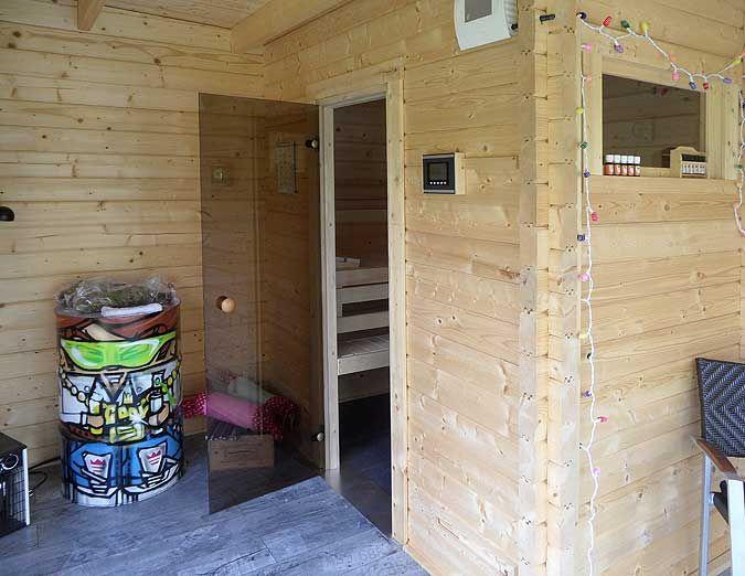 Unique Im Garten von Familie Neumann sollte ein Saunahaus entstehen denn im Keller des Wohnhauses reichte