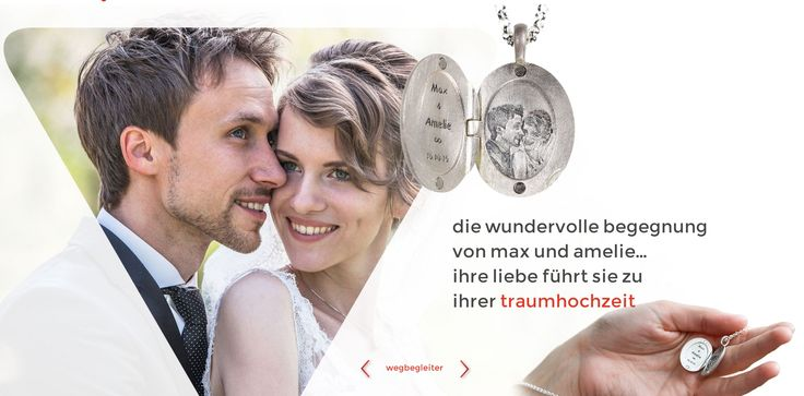 wegbegleiter www.wegbegleiter.com geschenk schmuck hochzeit anhänger armbänder medaillons sterling silber kette