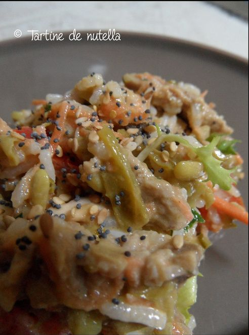 Salade de restes de rôti de boeuf