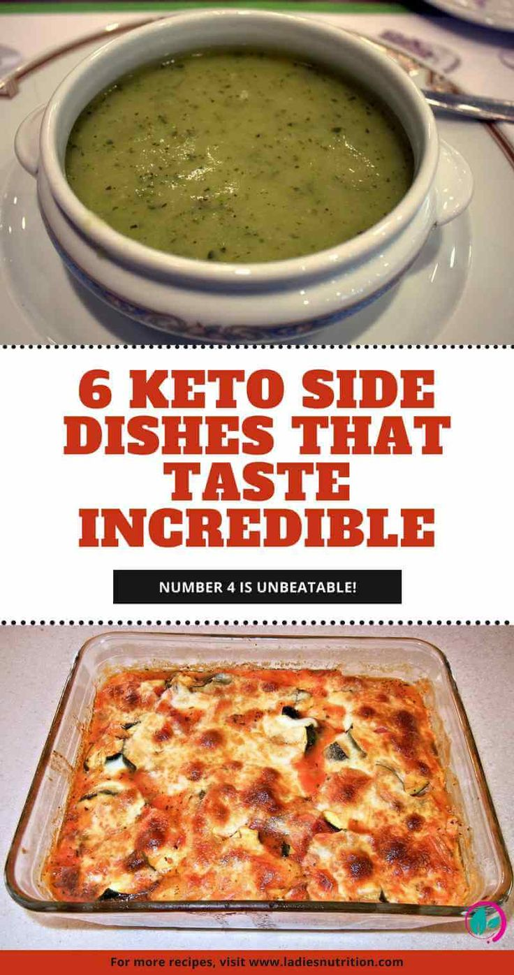 Looking for some delicious keto side dishes? Here are 6 recipes which all use healthy and extremely tasty ingredients. Check out Number 4, it's unbeatable!
