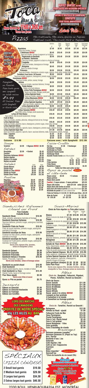 La Toca Bar & Grill – La Toca Bar & Grill Pizza livraison / La Toca Bar & Grill restaurant - La Toca Bar & Grill