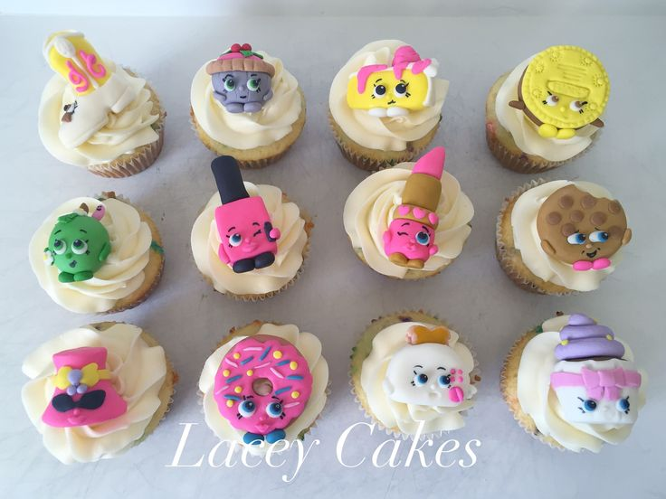 Decorating Ideas > Fondant Shopkin Cupcake Toppers  Lacey Cakes And Cookies  ~ 082523_Fondant Cake Topper Ideas