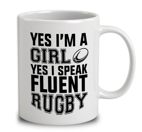 yes i'm a girl yes i speak fluent rugby!Great to see lots of female rugby products going around! : )