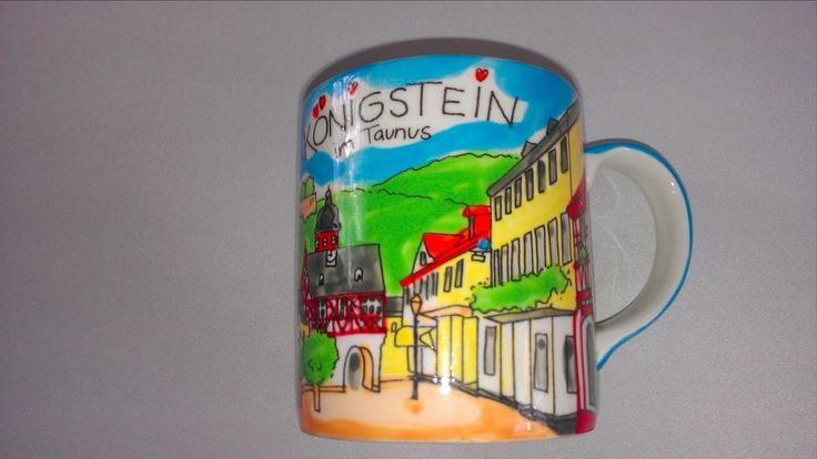 #Konigstein im Taunus Mug Cup #Germany Town Colorful Collectible Handpainted  http://www.ebay.com/itm/-/301693988471?roken=cUgayN&soutkn=xw6RgQ #german #bogo #gifts #giftidea #ebay