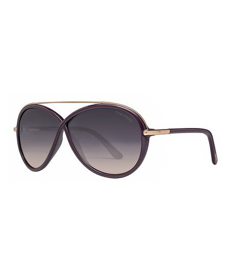 Tom Ford Violet & Gold Gradient Tamara Oval Sunglasses - Women   zulily