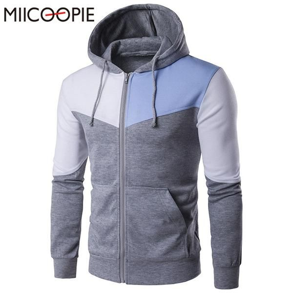 Men/'s Long Sleeve Hooded Hoodie Slim Fit Sports Sweatshirt Outwear Jacket Coats